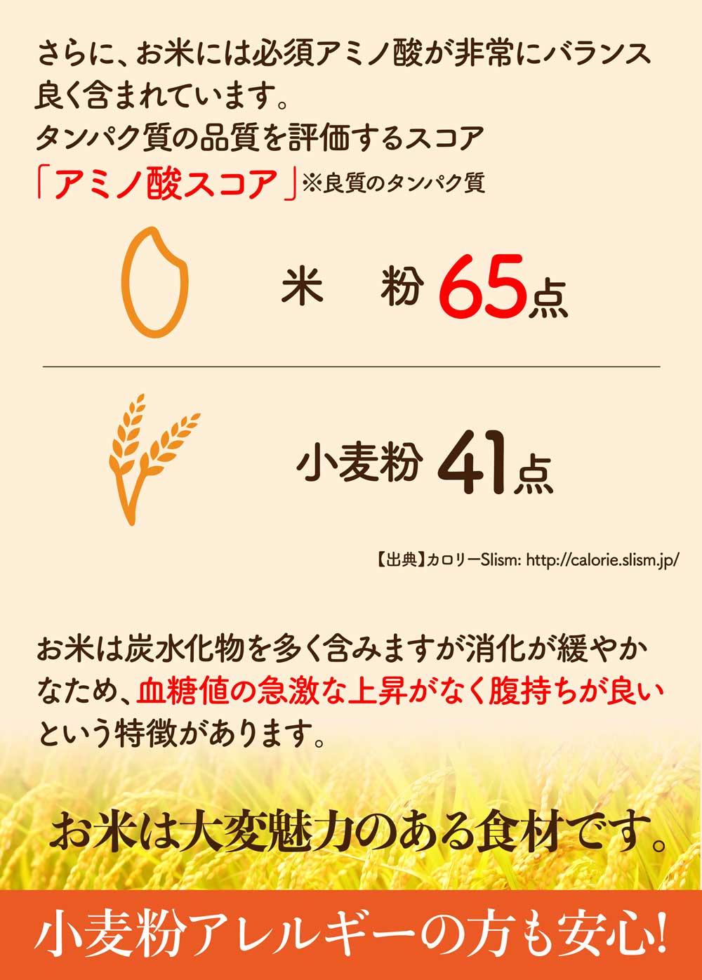 お米は大変魅力のある食材です